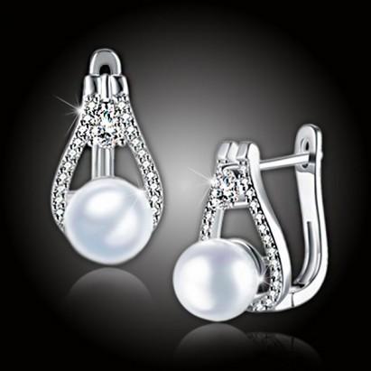 Perlové náušnice Venus White Pearl