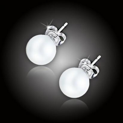 Perlové náušnice Elegance White Pearl