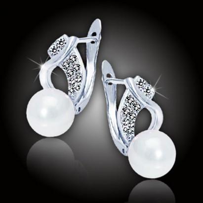 Perlové náušnice Nymfa - White Pearl
