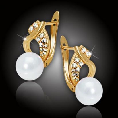 Perlové náušnice Nymfa White Pearl