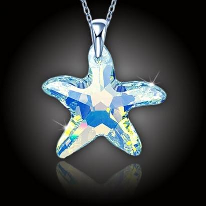 Morská hviezda Swarovski AB, strieborná retiazka