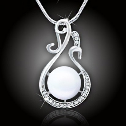 Náhrdelník Lastúra s perlou – White Pearl