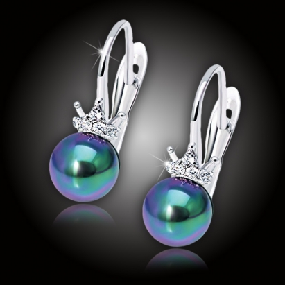 Perlové náušnice Pearl Princess Mystic Pearl